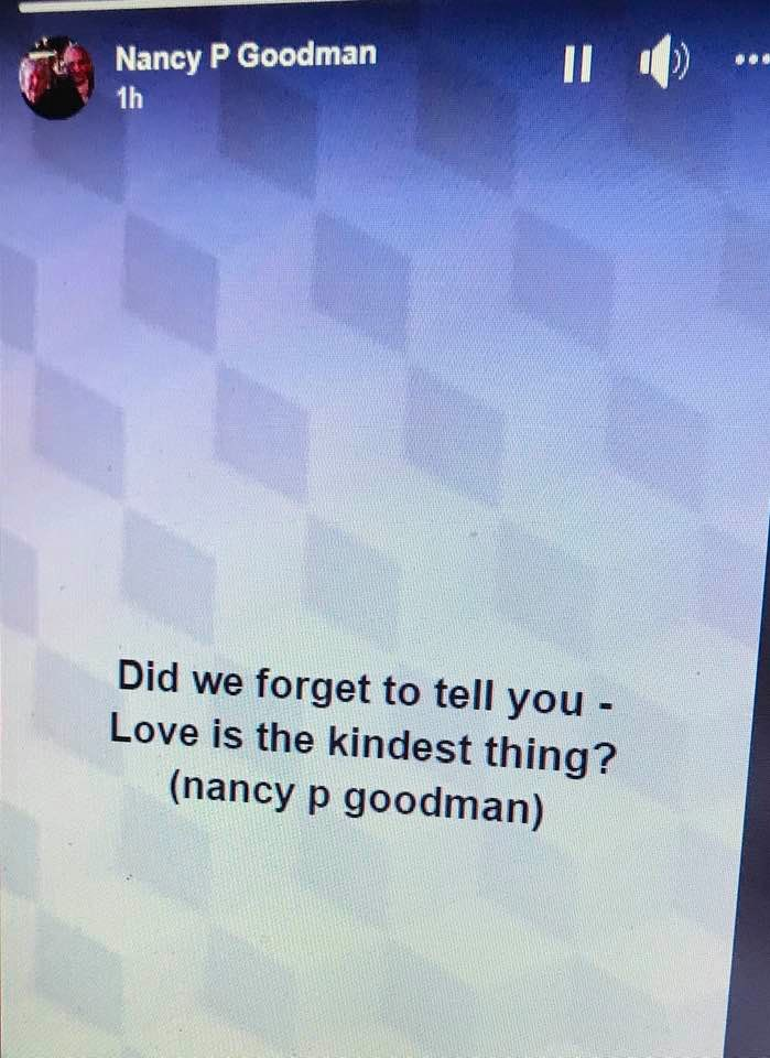love is the kindest thing